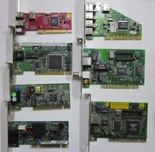 Lot of 7 Mixed Computer PCI Add-on Cards  USB2.0,Firewire,LAN,Internal Modem