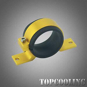 60MM Fuel Filter Bracket Mount Clamp For Universal Pump Billet Aluminum Golden