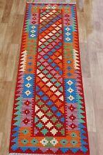 Handmade afghan kilim runner 195x69cm 100%wool natural colours antique chobi