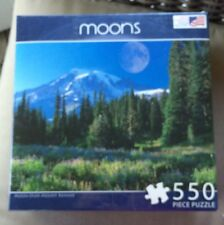 Sealed Moon Over Mount Rainier Puzzle From Great American Puzzle Factory