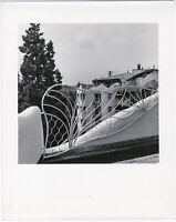 Architekturstudie, Organische Architektur, Große Originalfotografie um 1980