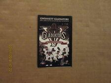 Echl Gwinnett Gladiators Circa 2007-2008 5Th Anniversary Hockey Pocket Schedule