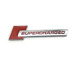 Red Thicken Turbo Charger Metal SUPERCHARGED Emblem Badge Sticker For Jaguar Aud