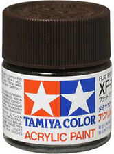 TAMIYA COLOR ACRYLIC XF-10 Flat Brown MODEL KIT PAINT 10ml NEW