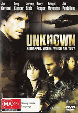 Unknown - Thriller / Crime / Kidnapping / Mystery - Jim Caviezel - NEW DVD