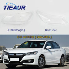 Headlight Lens Clear Cover Replacement For Honda Accord Headlight 2016-2018 R+L