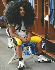 TROY POLAMALU 8X10 PHOTO PITTSBURGH STEELERS PICTURE HAIR HAIR & MORE HAIR