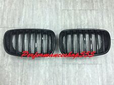 Front Kidney Hood Grill Grilles Carbon Look For '2007-'2013 BMW E70 X5/E71 X6