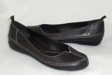 Bandolino Mrbean flats brown leather detailed 6 Med NEW
