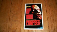 HOUSE OF 1000 CORPSES STICKER HORROR ROB ZOMBIE