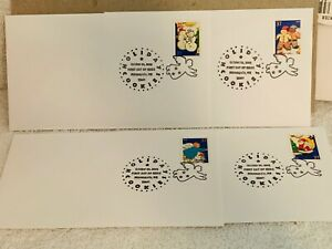 Holiday Cookies FDC Full set of 4 Envelopes First Day Issue 2005
