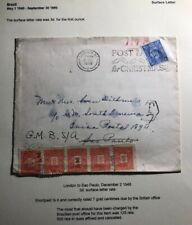 1948 London England Postage Due Cover To Sao Pablo Brazil Slogan Cancel