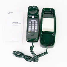 Vintage AT&T Trimline 210 Dark Green Corded Landline Wall Phone With Manual