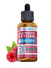Raspberry Ketone DROPS 60ml Fast Absorbing Weight Loss Fat Burn Liquid UK