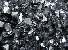 "GRAY REFLECTIVE FIREGLASS ~1/4"" Fireplace Fire Pit Glass Fire Crystals"