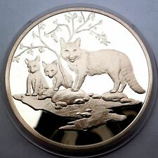 USA Silver Proof Medal North American Wildlife Foundation Red Fox Rare !