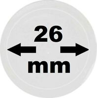 10 x LOOK Münzkapseln 26 mm Innendurchmesser - Aussen. 32 mm Glasklar mit Rand