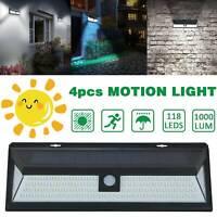 118 LED Solar Power PIR Motion Sensor Wall Lights Outdoor Garden Security Lamps.