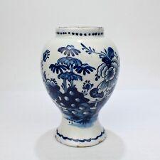 18th Century Tin Glazed Dutch Delft Pottery Blue and White Vase or Jar - PT