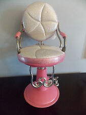 "Our Generation 18"" Doll Beauty Salon Hair Styling Pink/White Chair GUC"