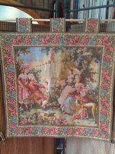 BEAUTIFUL ROMANTIC TAPESTRY WALL HANGING, LINED, WITH TABS, 25x25in,High Quality