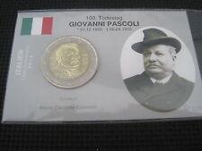 "2 Euro Gedenkmünze Italien 2012 unc. ""Giovanni Pascoli"" in Coincard/InfoKarte"