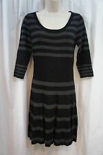 Studio M Petite Dress Sz MP Dove Black Rayon Blend Stretch Career Casual dress