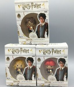 3x Harry Potter Pencil Toppers  Hermione Ron Harry Collectable NEW