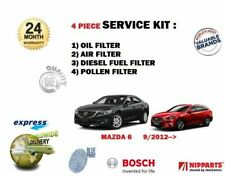 FOR MAZDA 6 1.8 2.0 2002-2008 NEW SERVICE KIT OIL AIR  POLLEN FILTER KIT 3