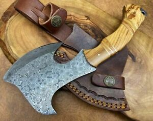 TITANs Handmade Damascus Steel small Axe Hunting Camping Crafts Gift 23cm X6-0