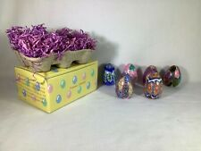 Floral Mosaic Egg Candles, Set of 6