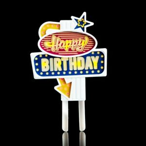 Happy Birthday Flashing Cake Topper - Cake Decoration