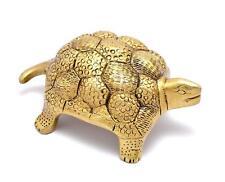 Brass Vaastu Yellow Tortoise Home Decor Statue Sculpture