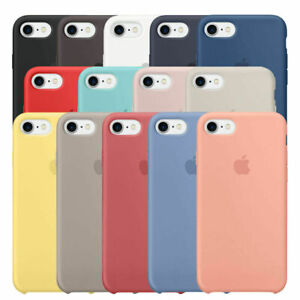 Coque Silicone housse Apple iPhone 7 8 X XR XS MAX 11 se 12 pro max 12 mini