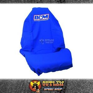 B&M SHIFTER LOGO SEAT COVER PROTECTIVE THROW OVER STYLE BUCKET SEATS - BM-THROW