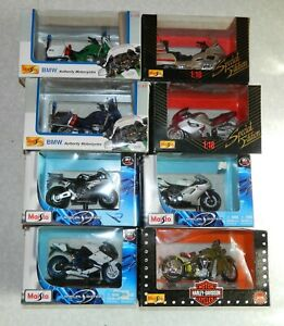 Lot 8 motos 1:18 Maisto Special edition avec boite d'origine trés bon etat