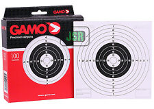 Gamo 14cm CARD Airgun TARGETS 100 Pack Single Bull Air Rifle Pistol Gun Zero HFT