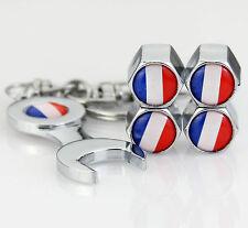 4pcs Auto Reifen Ventilkappen + Wrench schlüsselanhänger für Frankreich France