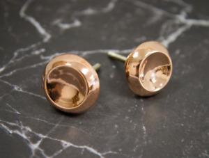 Rose Gold Metal Drawer Pull   Circular Copper Cabinet Door Knob, Cupboard Handle