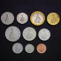 [J-1] Zimbabwe Set 10 Coins, 1 5 10 20 50 Cents + 1 2 5 10 25 Dollar, A-UNC