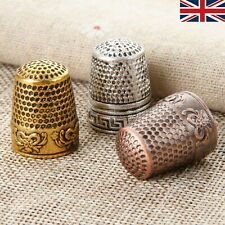 Dressmakers Vintage Metal Finger Thimble Protector Sewing Needle Shield