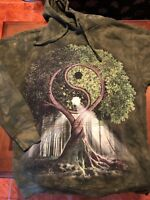 The Mountain YIN YANG TREE Tye Dye Hoodie Sweatshirt (Sz Small) Supreme Huf