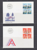 Switzerland Mi 1489/1510, 1993 issues, 8 complete sets in blocks of 4 on 14 FDCs