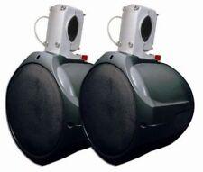 """MCM Custom Audio 60-10021  6 1/2"""" Marine Wakeboard Two-Way Speaker Pair - BLACK"""