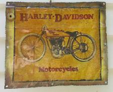 "Sign/plaque, tin, the iconic ""Harley Davidson"", bar/garage/man cave etc., decor"