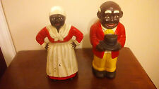 Vintage Aunt Jemima and Uncle Moses Door Stop Piggy Banks