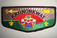 MERGED OA KATINONKWAT LODGE 93 109 350 65 CENT OHIO PATCH PLASTIC SERVICE FLAP