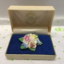 Vintage Royal Adderley Bone China Multiple Flower Brooch 1 3/4 original box