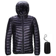 Down Jacket Men Winter Hooded Packable Ultra Lightweight Outwear Coat Hoodies