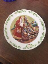 "Lenox 2003 8-1/4"" Christmas Plate Babbo Natale The Italian Santa Claus"